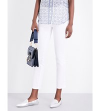 Paige The Jacqueline High Rise Straight Leg Jeans Optic White