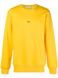 Helmut Lang Taxi Print Sweater Yellow And Orange