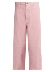 Marni Low Slung Wide Leg Cropped Jeans Pink