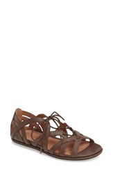 Gentle Souls Women's 'Orly' Lace Up Sandal Dark Mushroom Leather