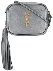 Saint Laurent Monogram Blogger Crossbody Bag Metallic