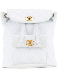 Chanel Vintage Duma Backpack White