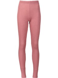 Marios 'Shimmery' Ribbed Leggings Pink And Purple