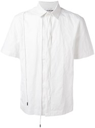 Chalayan String Shortsleeved Shirt White