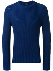 A.P.C. Travel Knitted Jumper Blue
