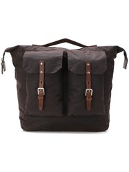 Ally Capellino Square Duffel Backpack Brown