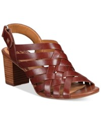 Clarks Artisan Women's Ralene Luster Dress Sandals Women's Shoes Tan
