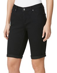Miraclebody Jeans Faith Bermuda Shorts Rinse Black