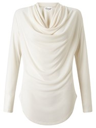 Alice By Temperley Somerset By Alice Temperley Cowl Neck Jersey Top Cream