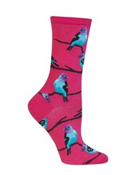 Hot Sox Bird Graphic Socks Bright Pink