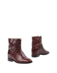 Etoile Isabel Marant Ankle Boots Brown