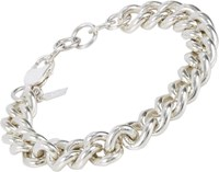 Loren Stewart Sterling Silver Curb Chain Bracelet Colorless