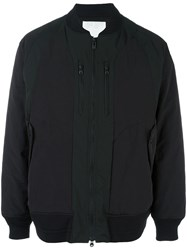 White Mountaineering Zipped Detailing Bomber Jacket Black
