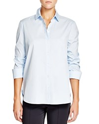 Basler Ruched Three Quarter Sleeve Shirt Blue