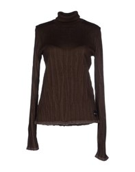 Just Cavalli Knitwear Turtlenecks Women Dark Brown