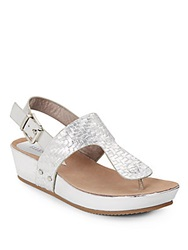 Ellen Tracy Inga Metallic Wedges Silver