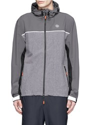 Icny 'Runner' Tech Jacket Grey Multi Colour