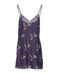 Laura Urbinati Short Dresses Purple