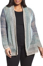 Nic Zoe Plus Size Women's Stripped Away Cardigan