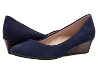 Cole Haan Tali Luxe Wedge 40 Blazer Blue Suede Women's Slip On Dress Shoes