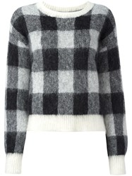 Designers Remix 'Fundy' Checked Jumper Black