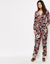 Love Jumpsuit In Paisley Print With Long Sleeves Navypaisley