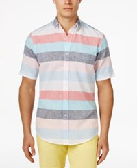 Club Room Men's Beckett Heathered Striped Shirt Only At Macy's Multi