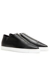 Stella Mccartney Faux Leather Slip On Sneakers Black