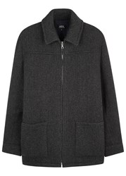 A.P.C. Borovitz Anthracite Wool Blend Jacket
