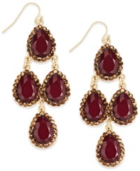 Inc International Concepts Gold Tone Red Crystal Chandelier Earrings Only At Macy's Merlot