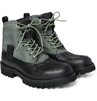 Rag And Bone Spencer Canvas And Leather Duck Boots