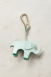 Anthropologie Leather Menagerie Keychain Mint
