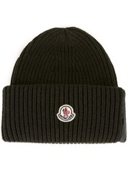 Moncler Ribbed Beanie Green