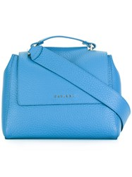 Orciani Flap Shoulder Bag Blue