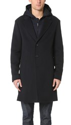 Vince Wool Melton 2 In 1 Storm Coat Navy