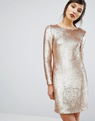 Oasis Sequin Tube Dress Gold