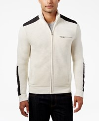 Inc International Concepts Men's Hale Ottoman Sweater Jacket Only At Macy's Vintage White