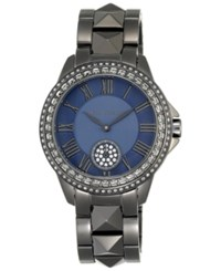 Vince Camuto Women's Swarovski Crystal Accented Gunmetal Stainless Steel Bracelet Watch 38Mm Vc 5161Nvgy