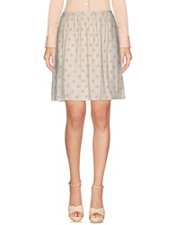 Just In Case Knee Length Skirts Ivory