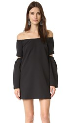 Re Named Off Shoulder Dress Black