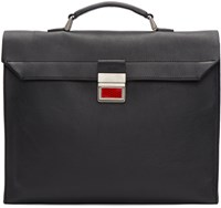 Maison Martin Margiela Black Leather Rolled Up Briefcase