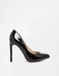 Truffle Collection Truffle Alma Black Patent Court Shoes