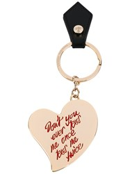 Vivienne Westwood Heart Keyring Unisex Leather Metal One Size Metallic
