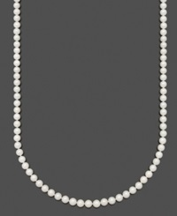 Belle De Mer Pearl Necklace 20' 14K Gold Aa Akoya Cultured Pearl Strand 6 1 2 7Mm