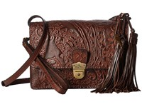 Patricia Nash Lanza Crossbody Organizer Dark Brown Cross Body Handbags