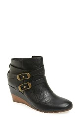 Sofft Women's 'Oakes' Wedge Bootie Black Leather