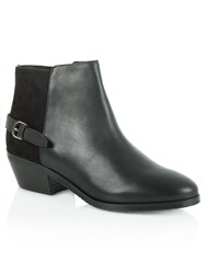 Daniel Malbis Leather And Suede Ankle Boots Black