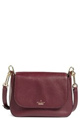 Kate Spade New York Robson Lane Kendra Crossbody Bag Burgundy Cherry Wood