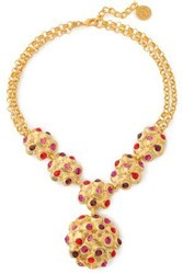 Ben Amun Gold Plated Crystal Necklace Gold