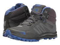 The North Face Litewave Fastpack Mid Wp Zinc Grey Amparo Blue Women's Hiking Boots Gray